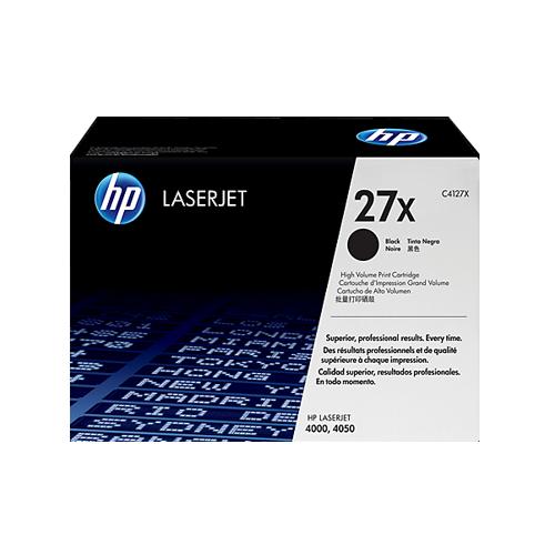 Cartucho original de tóner negro de alto rendimiento HP 27X LaserJet (C4127X)